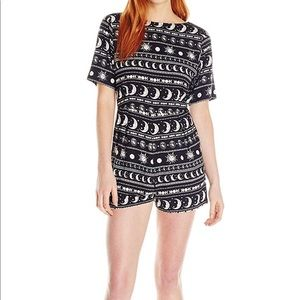 NEW Motel Lunar Printed Playsuit
